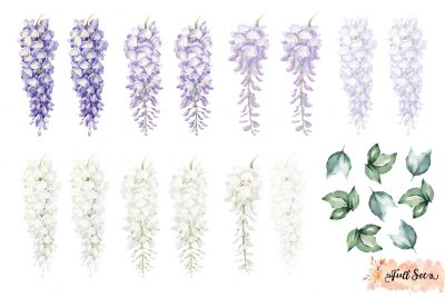 Wisteria Wall Decals – Purple Set