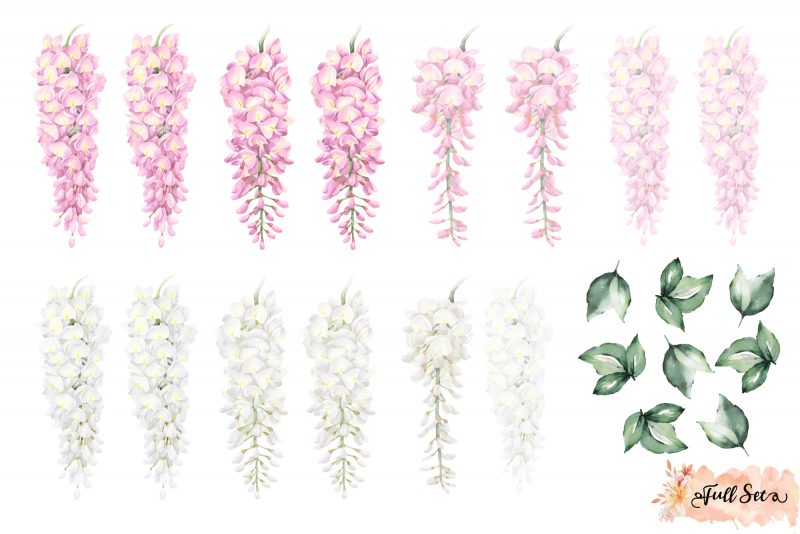 Wisteria Wall Decals – Pink Set