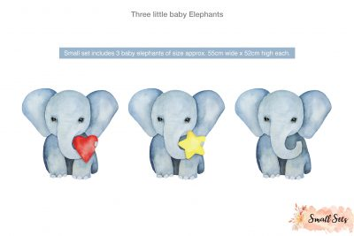 Three little baby Elephants