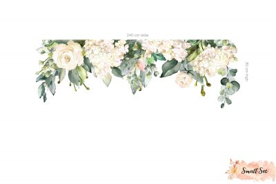 White Rose Garden Decals