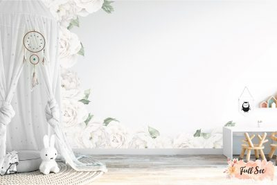 White-Peony-&-Rose-Wall-Decals---wall-Decals--full-set-1