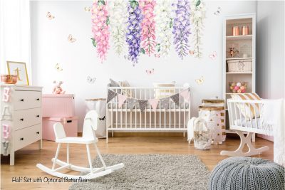Wisteria wall decals Multicolour Half set butterfly