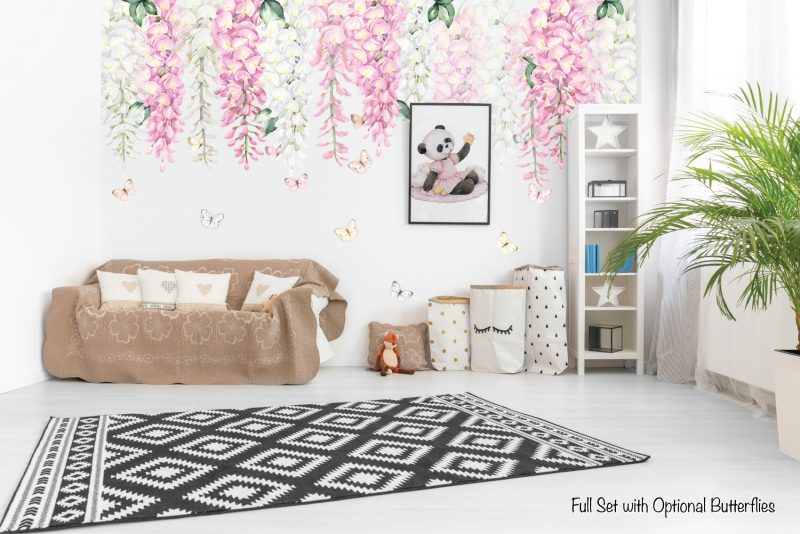 Wisteria Wall Decals - Pink Set