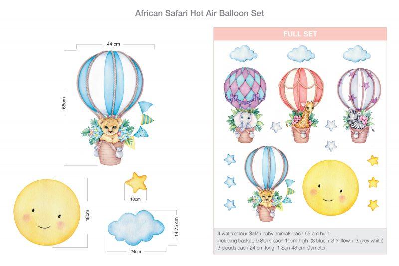 African Safari Hot Air Balloon Set