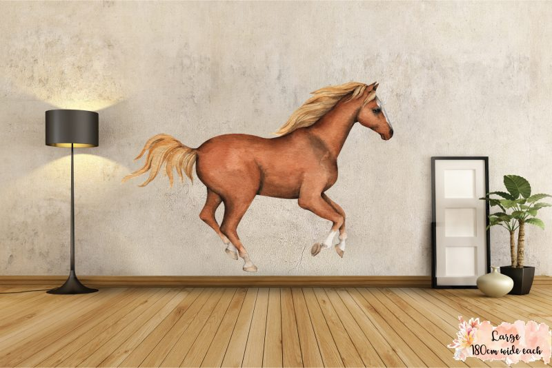 Horse wall decal set