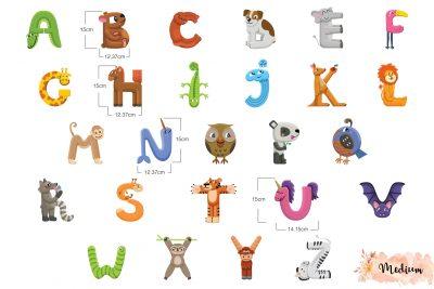 Kids Alphabet Wall Decal Set