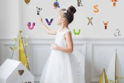 Kids Alphabet Wall Decal Set