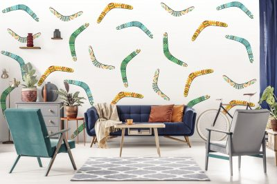 Boomerang Wall Decal Set