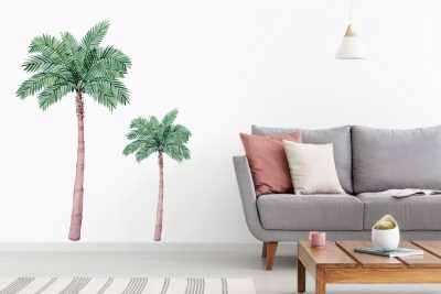 Large palm tree wall decal set Set