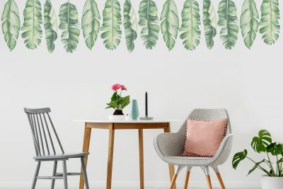 Tropical Banana leaves Wall Decals Set