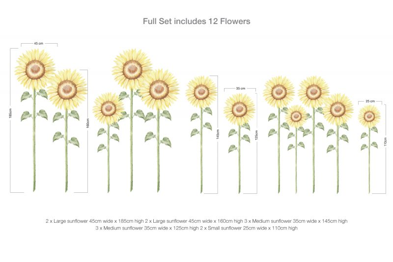 Sunflower LARGE Wall Decals