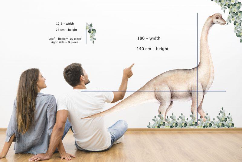 Large - BRACHIOSAURUS 180CM-size