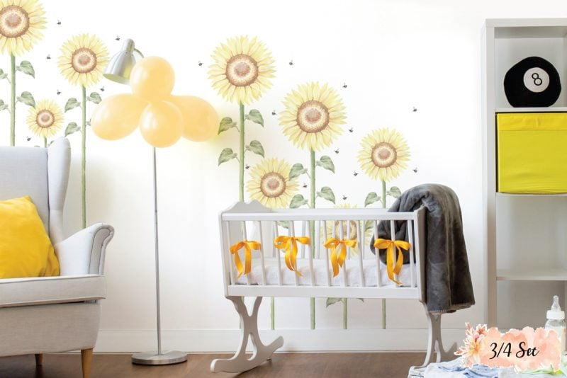Sunflower-Large-3-4-set-wall-decals-02
