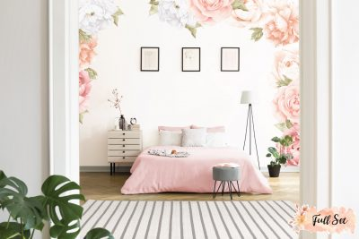 Peach-Peony-&-Rose-Wall-Decals_Full-Set